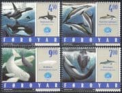 Faroes 1998 IYO/ Year of Ocean/ Whales/ Dolphins/ Nature/ Marine/ Wildlife/ Conservation/ Environment 4v set (b3283)