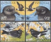 Faroes 2005 WWF/ Storm Petrels/ Birds/ Nature/ Wildlife/ Conservation 4v set (n14523)