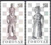 Faroes/ Faroe islands 1983 Chess/ Sports/ Board Games/ Chessmen/ Pieces 2v set ex bklt (n25356)