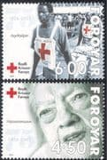 Faroes/ Faroe Islands 2001 Red Cross/ Medical/ Health/ Welfare/ People/ Nursing 2v set (n29913)