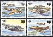Fiji 1981 Military Aircraft  /  Planes  /  WWII  /  Flying Boat  /  Aviation  /  Transport 4v n39974