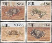 Fiji 1991 Mangrove Crabs/ Marine/ Animals/ Nature/ Wildlife 4v set (n21969)