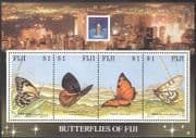 Fiji 1994 Butterflies/ HK '94 StampEx/ Insects/ Nature/ Conservation/ Butterfly 4v m/s (b4749)