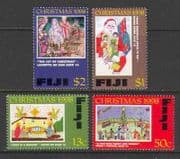 Fiji 1998 Christmas  /  Trees  /  Donkey 4v set (n20118)