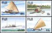 Fiji 1998 Raft/ Canoes/ Ship/ Boats/ Transport/ Nautical/ Maritime 1st series 4v set (n18625)