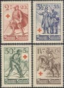 Finland 1940 Red Cross/ Health/ Welfare/ Medical/ Military/ Uniforms 4v set (n45262)