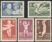 Finland 1947 Tuberculosis Fund/ Health/ TB/ Children/ Nurse/ Welfare/ Medical 5v set (n24818)