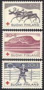 Finland 1960 Red Cross Fund  /  Reindeer  /  Health  /  Welfare  /  Medical  /  Animals 3v (n41015)