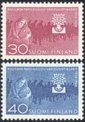 Finland 1960 World Refugee Year/ WRY/ Refugees/ Tree/ Welfare/ Health/ People 2v set (n30527)
