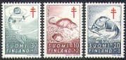Finland 1961 Tuberculosis Fund  /  Medical  /  Health  /  Seal  /  Otter  /  Animals 3v set (n41004)