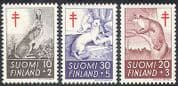 Finland 1962 Medical  /  Health  /  Animals  /  Nature 3v (n30526)