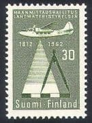 Finland 1962 Survey Plane  /  Aviation  /  Transport  /  Maps  /  Charts  /  Cartography 1v (n40965)