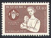 Finland 1963 FAO  /  FFH  /  Freedom From Hunger  /  Mother  /  Child  /  Animation 1v (n41005)