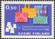 Finland 1970 Textiles/ Cloth/ Weaving/ Business/ Industry/ Commerce/ Factories 1v (n19580n)