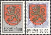 Finland 1974 Coat-of-Arms/ Lions/ Heraldry/ Heritage/ Design/ Animation 2v set  (n23802b)