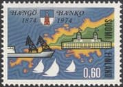 Finland 1974 Hanko/ Ship/ Harbour/ Boats/ Buildings/ Architecture/ Heritage/ Map 1v (n19580g)