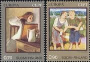 Finland 1975 Europa/ Art/ Paintings/ Artists/ Painters/ Enkell/ Sallinen 2v set (b735x)