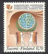 Finland 1975 IWY  /  International Women's Year  /  Dove  /  Bird Emblem  /  Animation 1v n39823