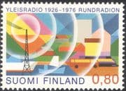 Finland 1976 Radio/ Mast/ Communications/ Boat/ Trains/ Locomotives/ Bus/ Coach/ Transport 1v (n13607c)