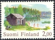 Finland 1976 Traditional Sauna/ Lake/ Forest/ Nature/ Buildings 1v (b735h)