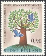 Finland 1977 Banks/ Money/ Commerce/ Industry/ Tree/ Birds/ Animation 1v (n13607f)