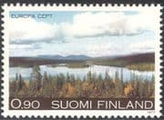 Finland 1977 Europa/ Lake/ Mountain/ Forest/ Trees/ Nature/ Plants 1v (n23802e)