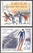 Finland 1978 World Ski Championships/ Sports/ Games/ Skiing/ Jumping 2v set (n23802f)