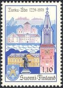 Finland 1979 Turku 750th Anniversary/ Ships/ Clock Tower/ Buildings/ Architecture/ Heritage/ History 1v (b735q)