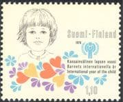 Finland 1979 Year of the Child/ IYC/ Children/ Hearts/ Flowers/ Animation 1v (b735m)