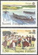 Finland 1981 Europa/ Festivals/ Dance/ Dancing/ Rowing/ Boats/ People 2v set (s333d)