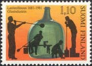 Finland 1981 Glass Making/ Bottle/ Industry/ Commerce/ Business/ History 1v (n19580q)