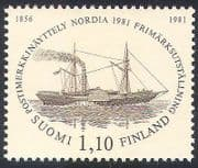 Finland 1981 Paddle Steamer  /  Boat  /  Nautical  /  Transport  /  StampEx  /  Steam 1v (n30522)