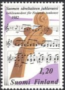Finland 1982 Music/ Musicians/ Musical Score/ People/ Composers/ Sibelius 1v (n13607p)