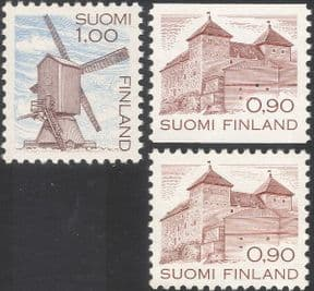 Finland 1982 Windmill/ Castle/ Buildings/ Architecture/ Heritage/ Mills/ Business/ History 3v (n13607n)