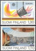 Finland 1983 Europa/ Technology/ Architecture/ Buildings/ Iron/ Steel/ Church/ Industry 2v set b735v