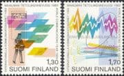 Finland 1983 Postman/ Computer/ Letters/ Radio Dish/ Communications Year 2v set (n19580p)