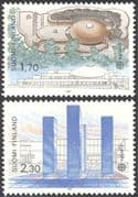 Finland 1987 Europa/ Buildings/ Architecture/ Art/ Architects/ Artists 2v set (s333a)