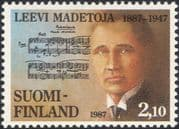 Finland 1987 Leevi Madetoja/ Composers/ Music/ Musicians/ Musical Score 1v (n19580x)