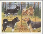 Finland 1987 Working Dogs/ Animals/ Nature/ Pets/ Kennel Club 4v m/s (s338)