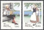 Finland 1989 Traditional Costumes/ Clothes/ Music/ Musician/ People 2v set (s333t)