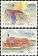 Finland 1990 Europa/ Post Office Buildings/ Architecture/ Building/ Mail/ Post 2v set (b735w)