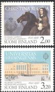 Finland 1990 Helsinki University/ Queen Christiana/ Horse/ Buildings/Architecture/ Animals/ Transport/ Education 2v set (n43005)
