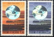 Finland 1990 Post/ Mail/ Communication/ Telecommunications/ Telecomms/ Hologram/ Holograph 2v set (b735b)