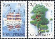Finland 1991 Nordic Countries' Postal Co-operation/ Ferry/ Boat/ Transport/ Map/ Animation 2v set (b735p)