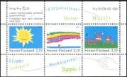 Finland 1991 Sun/ Rainbow/ Cattle/ Painting/ Art/ Stamp Design 3v m/s (n43871)