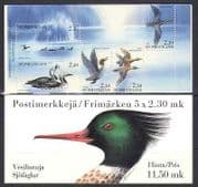 Finland 1993 Ducks  /  Water Birds  /  Wildlife 5v bklt (b8850)