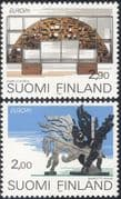Finland 1993 Europa/ Contemporary Art/ Sculpture/ Artists/ Sculptors 2v set (s4559f)