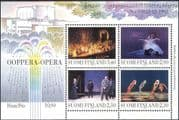 Finland 1993 Opera/ Ballet/ Music/ Dance/ Theatre/ Buildings/ Composers/ Mozart/ Debussy 4v m/s (s4559m)