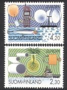 Finland 1994 Europa  /  Ship  /  Radio  /  Telephone  /  Balloon  /  Crops  /  Inventions 2v set n39076