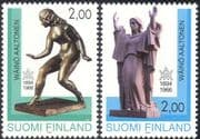 Finland 1994 Waino Aaltonen/ Sculptor/ Artist/ Art/ Sculptures/ People 2v set (s4559h)